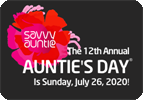 AUNTIE'S DAY IS SUNDAY, JULY 26, 2020