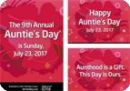 Auntie's Day 2017 Social Media Posters and eCards!