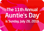 AUNTIE'S DAY® IS SUNDAY, JULY 28, 2019