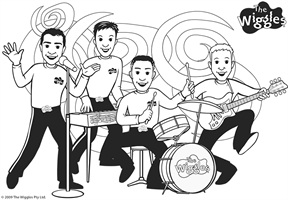 the wiggles coloring page the wiggles band - The Wiggles Colouring Pages