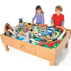 Imaginarium Classic Train Table with Roundhouse Wooden Train Set  sc 1 st  Savvy Auntie & Imaginarium Classic Train Table with Roundhouse Wooden Train Set ...