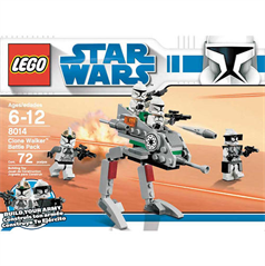lego star wars the clone wars clone walker battle pack 8014 - Lego Clone Trooper Coloring Pages