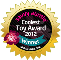 Savvy Auntie Coolest Toy Awards Seal 2012